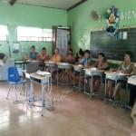 Charla sobre la autoestima con los integrantes del grupo de Mejoramiento de Vida de Cebadilla, el 11 de octubre de 2016, en las instalaciones de la Escuela de la comunidad, con la participación de 10 señoras y 2 señores.