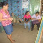 primera visita a la señora Reina Fuentes para hablar sobre sus acciones que se propuso en el plan de accion familiar