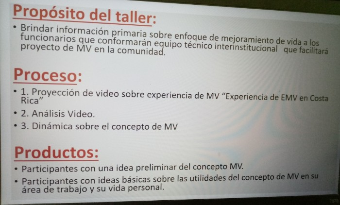 Primer taller EMV con instituciones