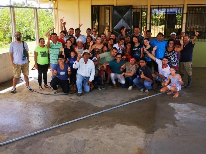 CONSTRUCCIÓN DE PISO Y PINTADO DE ZINC EN AGREGADO (SALÓN COMUNAL RIO MAGDALENA).