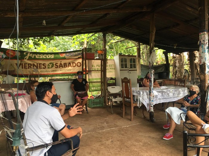 Primera reunión con grupo de Santa Rita durante Pandemia