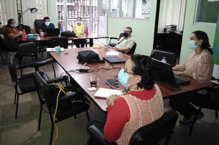 Reunión del Equipo de EMV Coto Brus con acompañamiento del Equipo Nacional de EMV